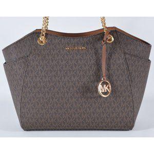 Michael Kors Large Logo Chain Strap Purse Handbag